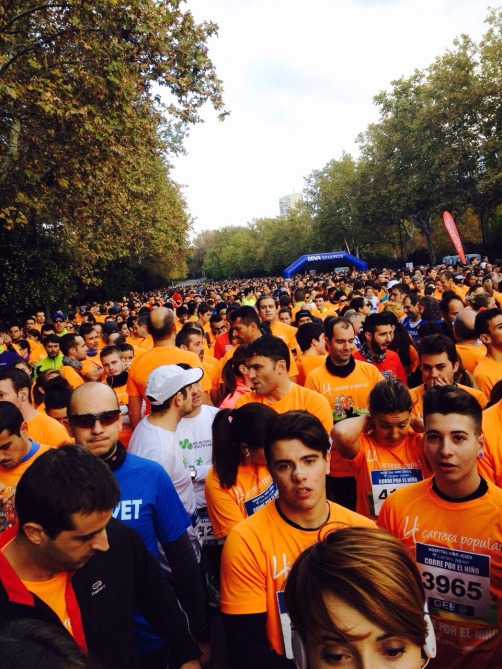 The perks of running - get a lovely orange t shirt...