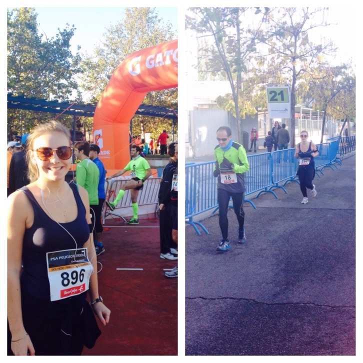 Before and after my first half marathon!
