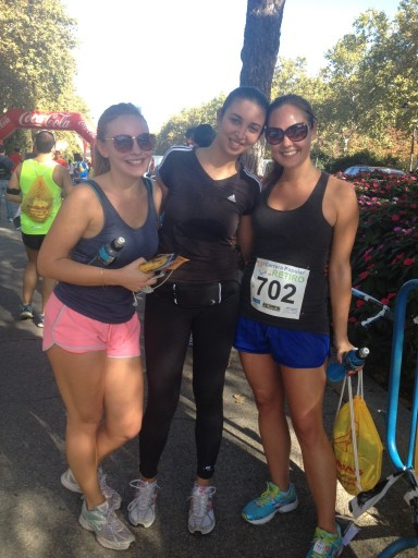After the X Carrera Popular Distrito de Retiro, 10 kilometres – running buddies!